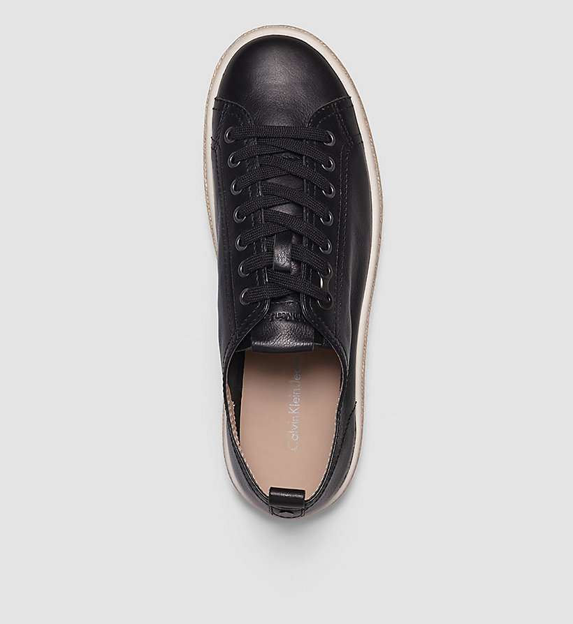 CKJEANS Leather Sneakers - BLACK/BLACK - CK JEANS SHOES & ACCESSORIES - detail image 1