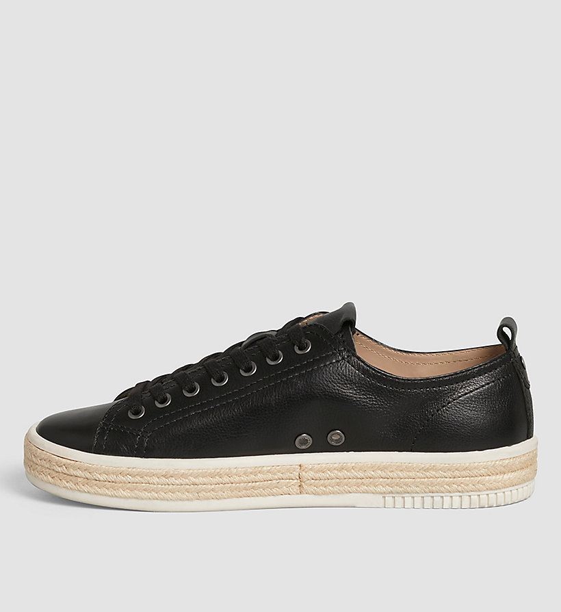 CKJEANS Leather Sneakers - BLACK/BLACK - CK JEANS SHOES & ACCESSORIES - detail image 2