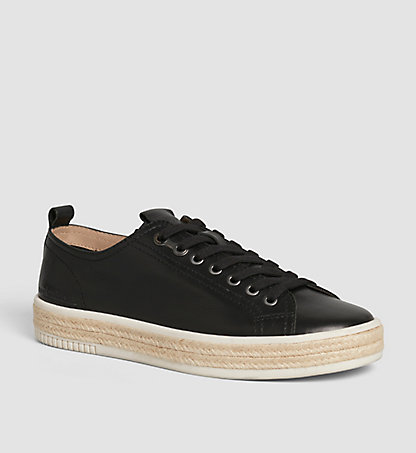 CALVIN KLEIN Leather Sneakers 00000S1554BLK
