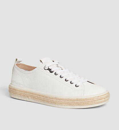 CALVIN KLEIN Leather Sneakers 00000S1554WHT