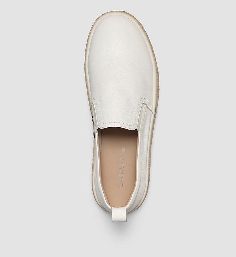 CKJEANS Leather Slip-On Shoes - WHITE/WHITE - CK JEANS SHOES & ACCESSORIES - detail image 1