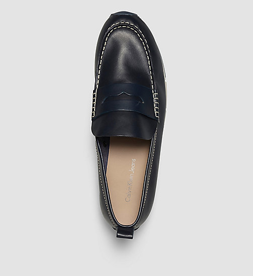 CKJEANS Leather Loafers - BLUE/INDIGO - CK JEANS FLAT SHOES - detail image 1