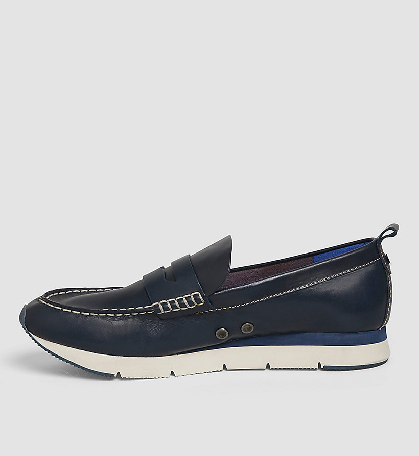 CKJEANS Leather Loafers - BLUE INDIGO - CK JEANS SHOES & ACCESSORIES - detail image 2