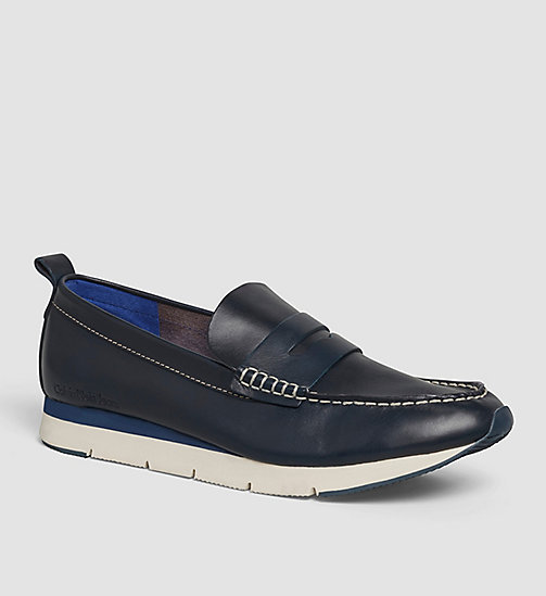 CKJEANS Leather Loafers - BLUE/INDIGO - CK JEANS FLAT SHOES - main image