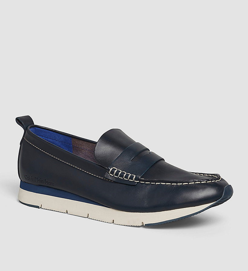 CKJEANS Leather Loafers - BLUE INDIGO - CK JEANS SHOES & ACCESSORIES - main image