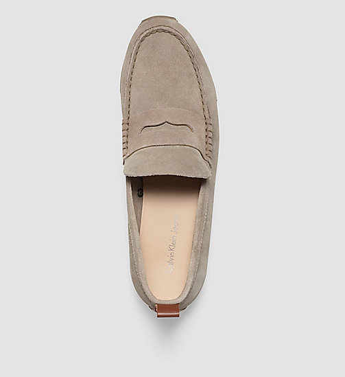 CKJEANS Suede Loafers - BROWN/TAUPE/WHISKEY - CK JEANS FLAT SHOES - detail image 1