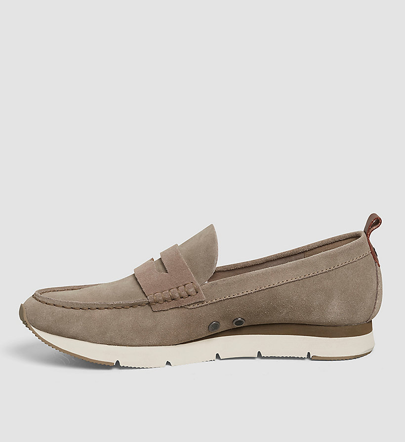 CKJEANS Suede Loafers - BROWN/TAUPE/WHISKEY - CK JEANS SHOES & ACCESSORIES - detail image 2