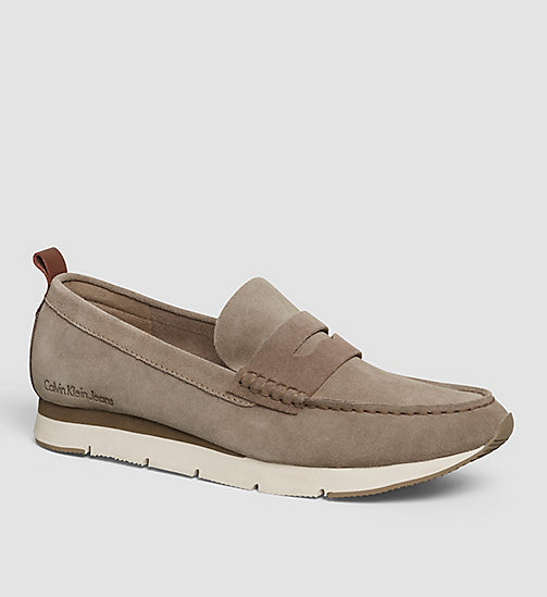 CKJEANS Suede Loafers - BROWN/TAUPE/WHISKEY - CK JEANS FLAT SHOES - main image