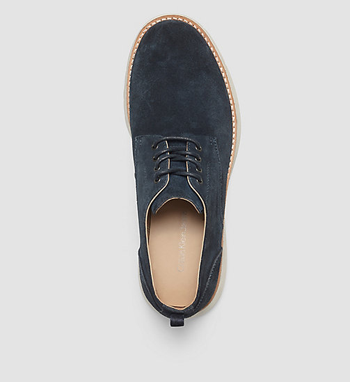 CKJEANS Suede Lace-Up Shoes - BROWN/INDIGO - CK JEANS FLAT SHOES - detail image 1