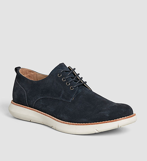 CKJEANS Suede Lace-Up Shoes - BROWN/INDIGO - CK JEANS FLAT SHOES - main image