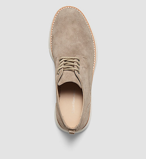 Suede Lace-Up Shoes - BROWN/TAUPE - CK JEANS SHOES & ACCESSORIES - detail image 1