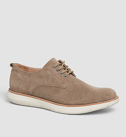 CKJEANS Suede Lace-Up Shoes - BROWN/TAUPE - CK JEANS FLAT SHOES - main image