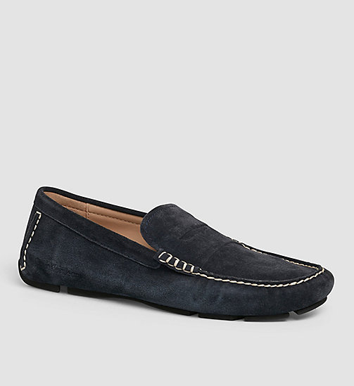 CKJEANS Suede Loafers - BLUE/INDIGO - CK JEANS FLAT SHOES - main image