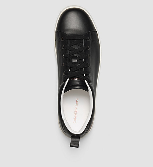 CKJEANS Leather Sneakers - BLACK /  BLACK - CK JEANS TRAINERS - detail image 1