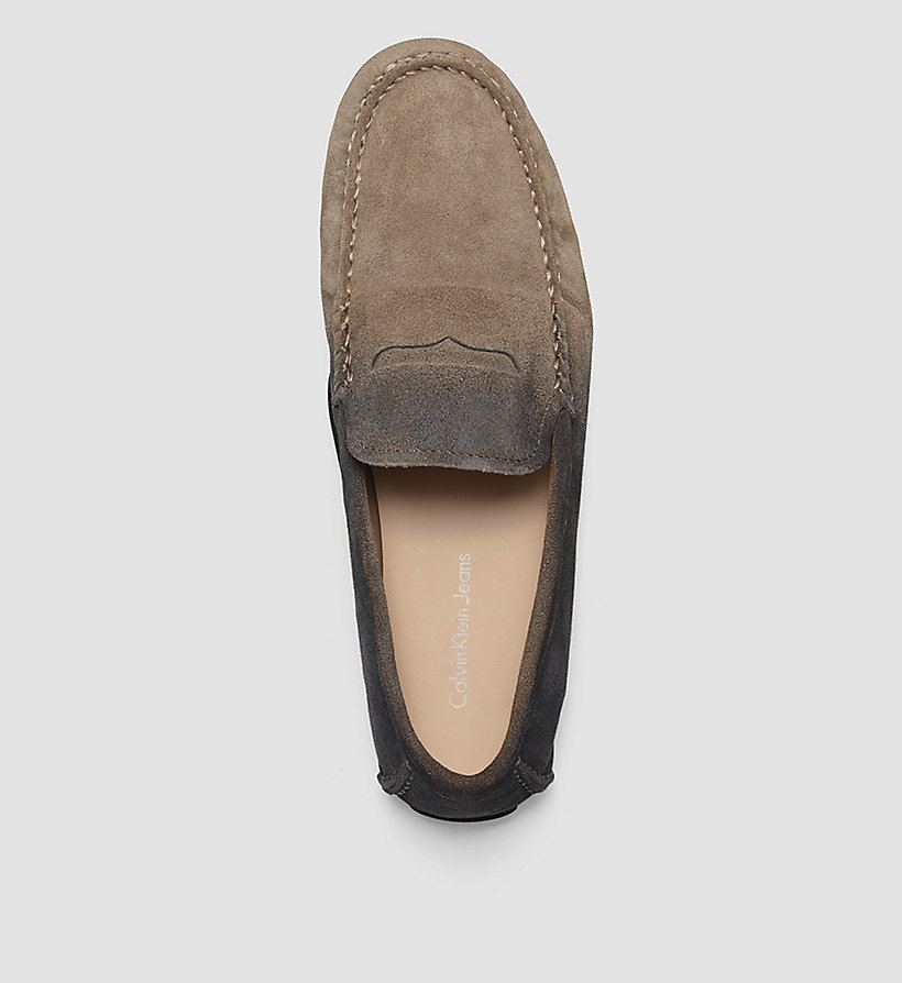 CKJEANS Suede Degrade Loafers - BROWN/TAUPE/BLACK - CK JEANS SHOES & ACCESSORIES - detail image 1