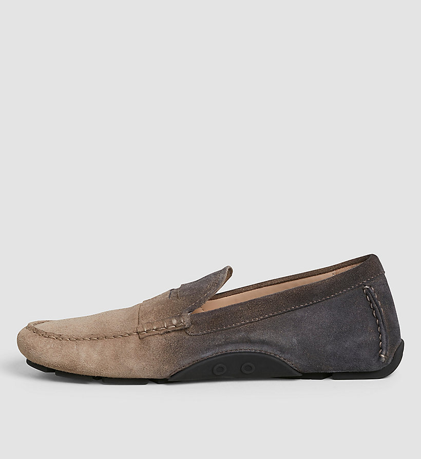 CKJEANS Suede Degrade Loafers - BROWN/TAUPE/BLACK - CK JEANS SHOES & ACCESSORIES - detail image 2
