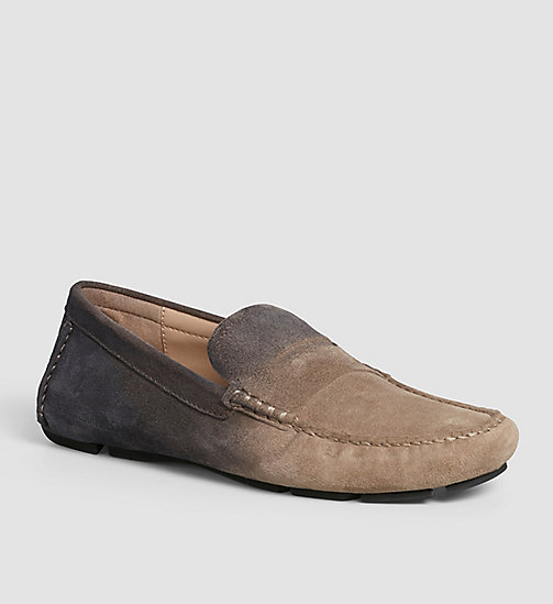 CKJEANS Suede Degrade Loafers - BROWN/TAUPE/BLACK - CK JEANS FLAT SHOES - main image