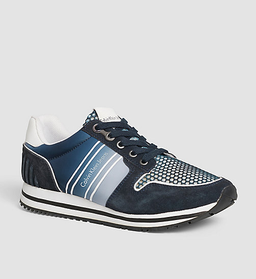 CKJEANS Suede Sneakers - GREY/NAVY - CK JEANS SHOES - main image