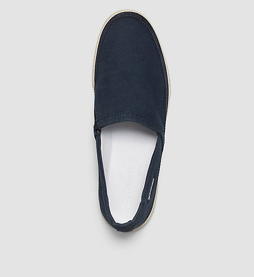 Canvas Slip-On Shoes - BLUE INDIGO - CK JEANS SHOES & ACCESSORIES - detail image 1