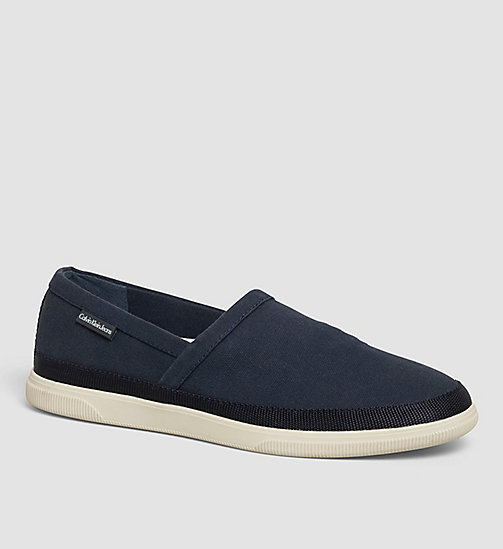 Canvas Slip-On Shoes - BLUE INDIGO - CK JEANS SHOES & ACCESSORIES - main image
