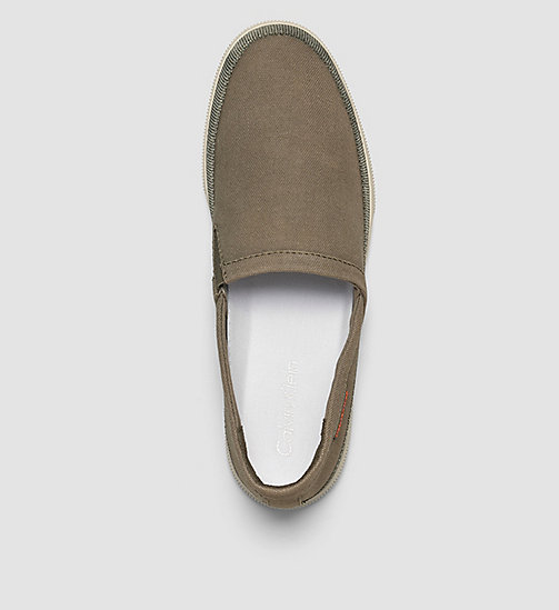 Canvas Slip-On Shoes - BLUE/MILITARY - CK JEANS SHOES & ACCESSORIES - detail image 1