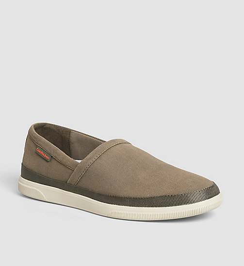CKJEANS Canvas Slip-On Shoes - BLUE/MILITARY - CK JEANS SHOES - main image