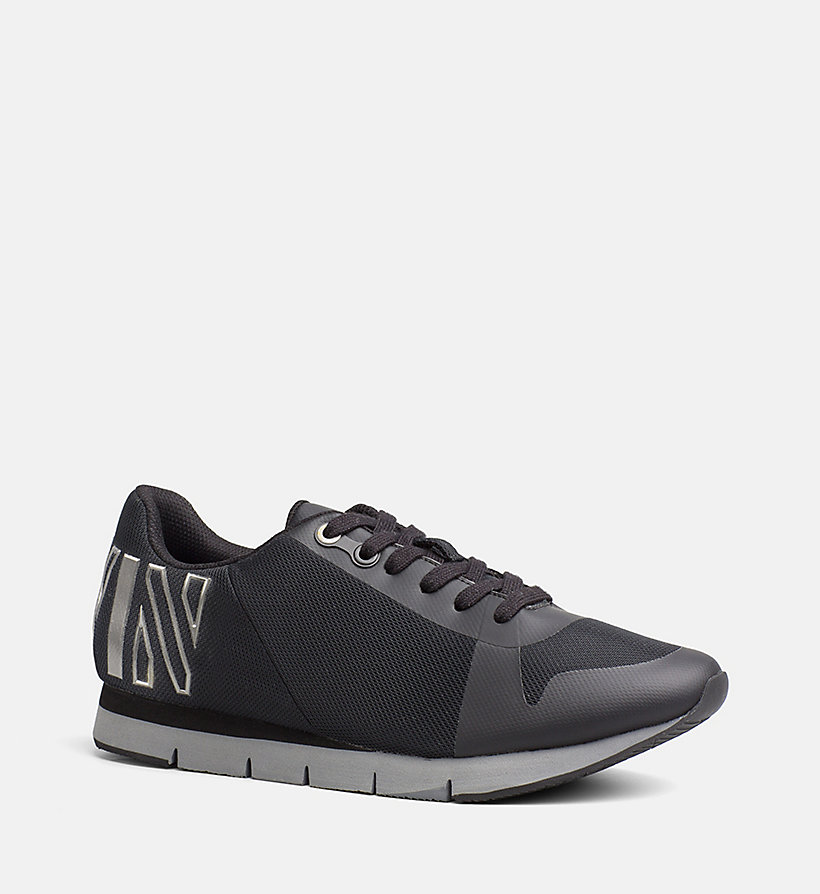 CALVIN KLEIN JEANS Mesh Sneakers - BLACK/PEWTER - CALVIN KLEIN JEANS SHOES & ACCESSORIES - main image
