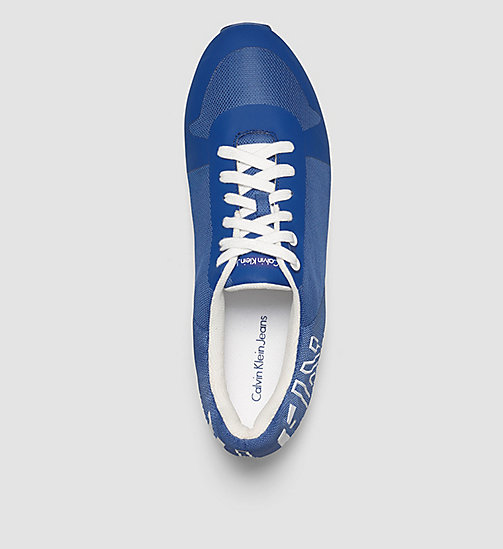 Mesh Sneakers - WHITE/COBALT/WHITE - CALVIN KLEIN JEANS SHOES & ACCESSORIES - detail image 1