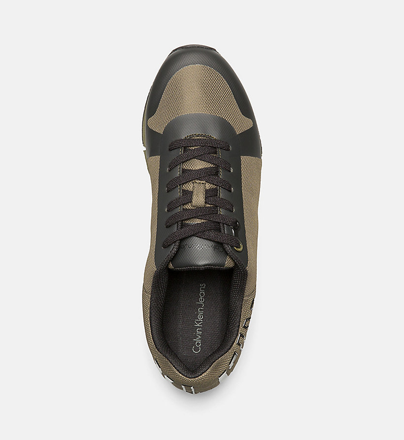 CALVIN KLEIN JEANS Mesh Sneakers - CARGO/BLACK - CALVIN KLEIN JEANS SHOES & ACCESSORIES - detail image 1