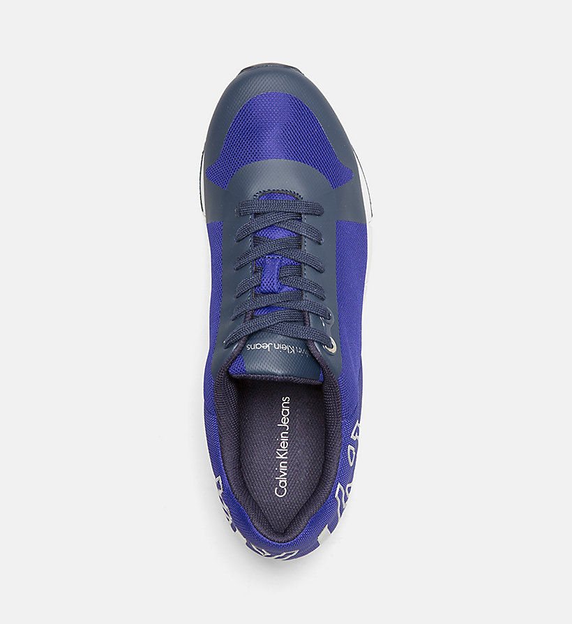 CALVIN KLEIN JEANS Mesh Sneakers - E-BLUE/SILVER - CALVIN KLEIN JEANS SHOES & ACCESSORIES - detail image 1