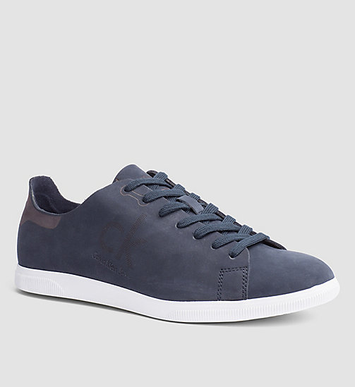 Nubuck Sneakers - BLUE INDIGO - CK JEANS SHOES & ACCESSORIES - main image