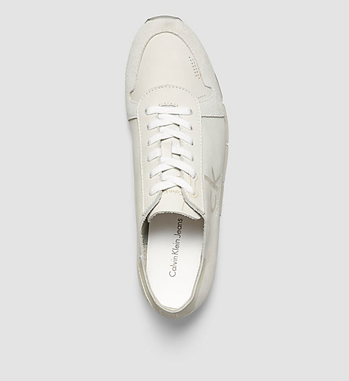 Nubuck Sneakers - WHITE/WHITE - CK JEANS SHOES & ACCESSORIES - detail image 1