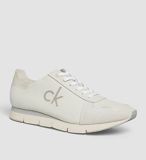 Nubuck Sneakers - WHITE / WHITE - CK JEANS SHOES & ACCESSORIES - main image