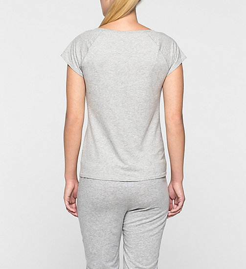 CALVINKLEIN PJ Top – Modern Cotton - GREY HEATHER - CALVIN KLEIN PYJAMA TOPS - detail image 1
