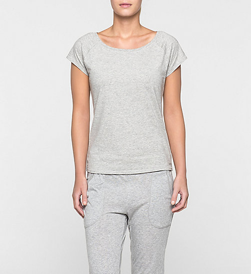 PJ Top – Modern Cotton - GREY HEATHER - CALVIN KLEIN BEACHWEAR - main image