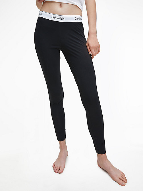 CALVINKLEIN Leggings - Modern Cotton - BLACK - CALVIN KLEIN PYJAMA BOTTOMS - main image