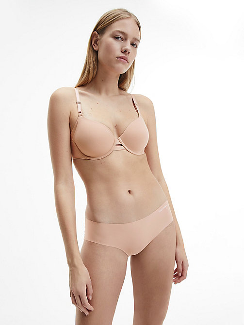 CALVINKLEIN Shorty - Invisibles - LIGHT CARAMEL - CALVIN KLEIN 3 SLIPS POUR €40 - image détaillée 1