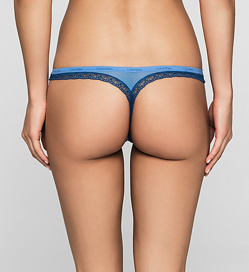 CALVINKLEIN Thong - Bottoms Up - STELLA BLUE (ORION LACE) - CALVIN KLEIN UNDERWEAR - detail image 1