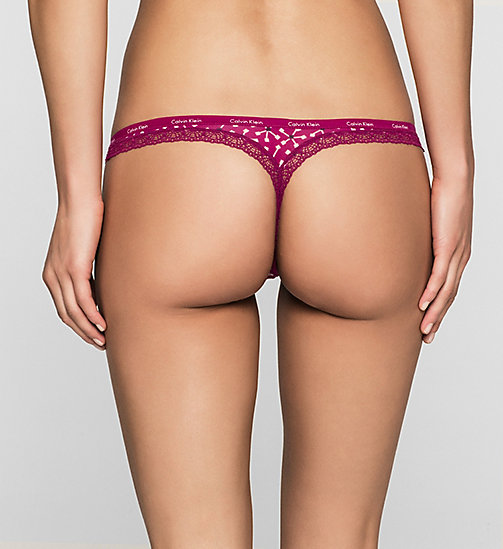 CALVINKLEIN Thong - Bottoms Up - VISONARY FLORAL_FATHOM (FATHO - CALVIN KLEIN THONGS - detail image 1