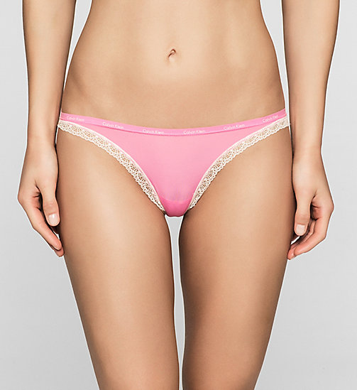 Thong - Bottoms Up - KITSCH (IVORY LACE) - CALVIN KLEIN UNDERWEAR - main image