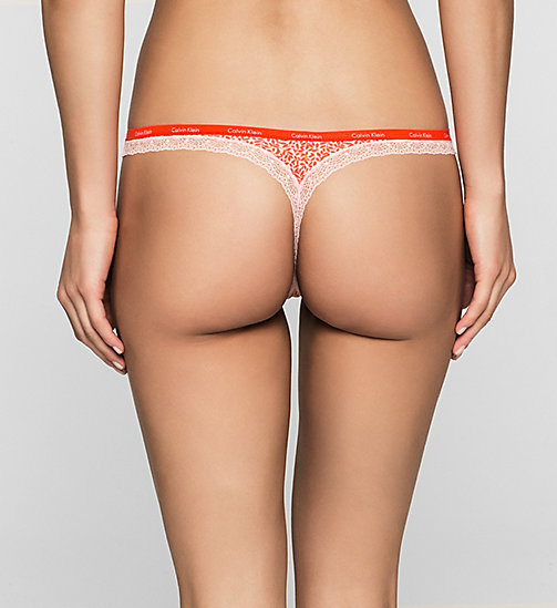 Thong - Bottoms Up - TWISTING VINES (UNDONE LACE) - CALVIN KLEIN UNDERWEAR - detail image 1