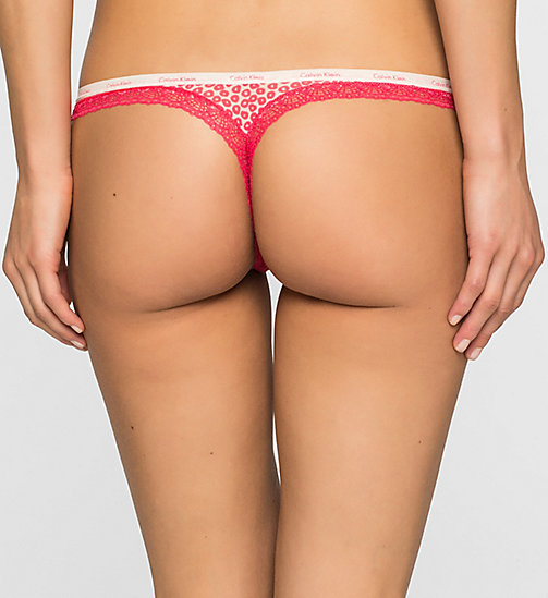 CALVINKLEIN Thong - Bottoms Up - TINY LEOPARD_SULTRY (SULTRY L - CALVIN KLEIN THONGS - detail image 1