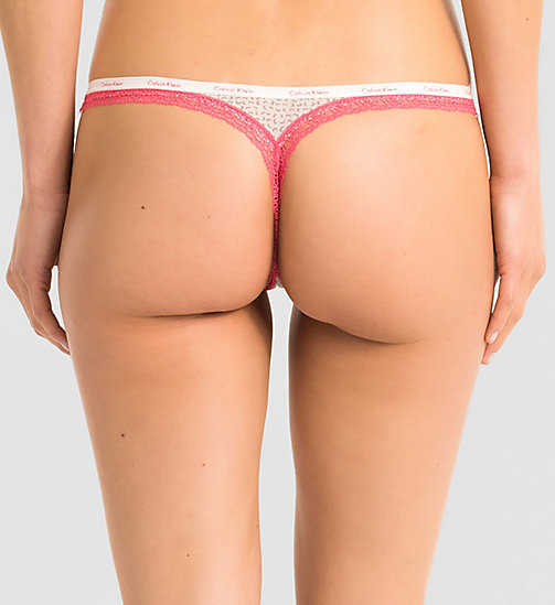 CALVINKLEIN Thong - Bottoms Up - LIVELY GEO (DESERT SUNSET LAC - CALVIN KLEIN UNDERWEAR - detail image 1