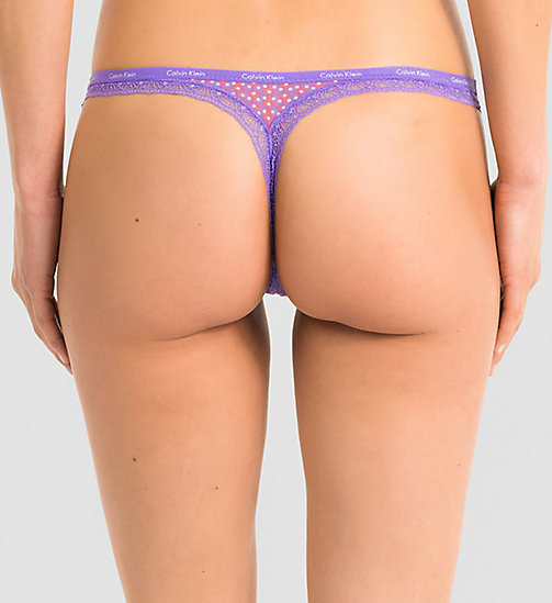 CALVINKLEIN Thong - Bottoms Up - YIPPIE DOT_RETROGRADE (RETROG - CALVIN KLEIN UNDERWEAR - detail image 1