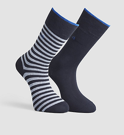 CALVIN KLEIN 2 Pack Striped Socks 0000ECB267041