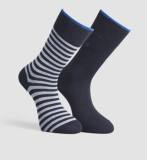 CALVINKLEIN 2 Pack Striped Socks - NAVY - CALVIN KLEIN SOCKS - main image
