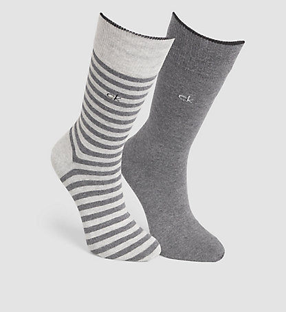 CALVIN KLEIN 2 Pack Striped Socks 0000ECB267G59