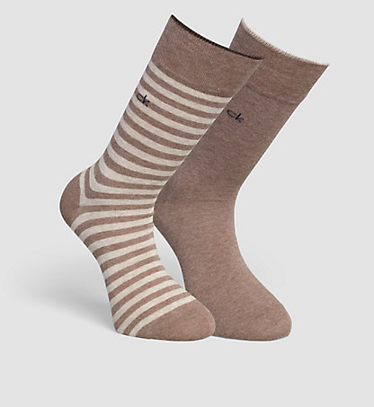 CALVIN KLEIN 2 Pack Striped Socks 0000ECB267G65