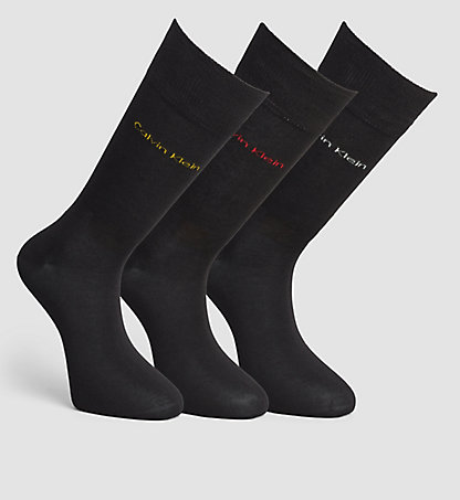CALVIN KLEIN 3 Pack Cotton Blend Socks 0000ECB273099
