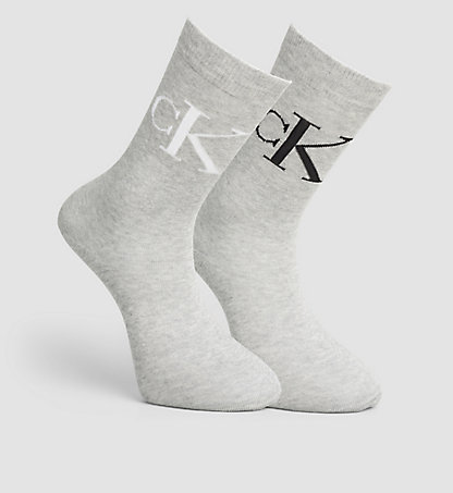 CALVIN KLEIN 2 Pack Cotton Blend Vintage Logo Sock 0000ECB637520